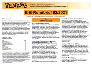 B-B-Rundbrief 2-2021 | entwicklungs- und umweltpolitische Informationen aus Brandenburg und Berlin