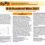 B-B-Rundbrief März 2021 | Entwicklungs- und umweltpolitische Informationen aus Brandenburg und Berlin
