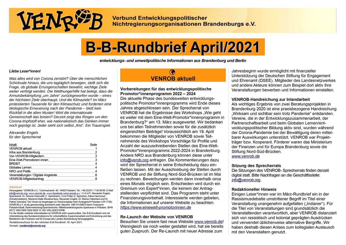 B-B-Rundbrief April 2021