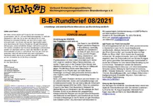 B-B-Rundbrief August 2021   Entwicklungs- und umweltpolitische