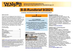 B-B-Rundbrief September 2021   Entwicklungs- und umweltpolitische