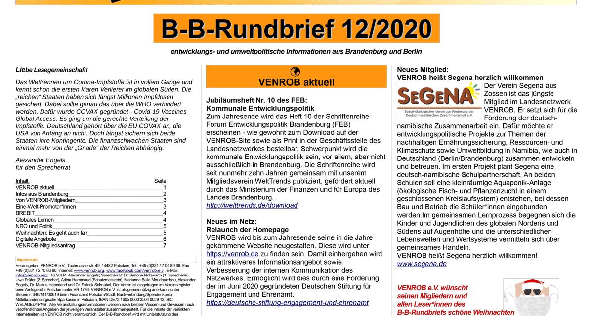 B‑B-Rundbrief 12/2020