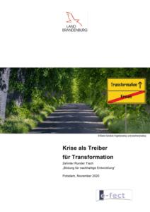 """""""Krise als Treiber für Transformation"""" – 10. Runder Tisch BNE"""