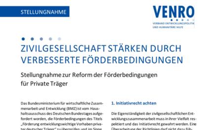 VENRO informiert! Förderung zivilgesellschaftlicher Arbeit