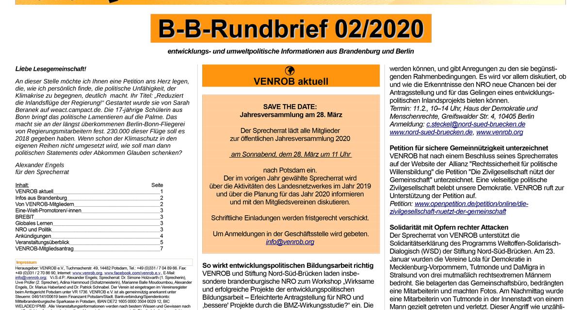 B‑B-Rundbrief 2/2020