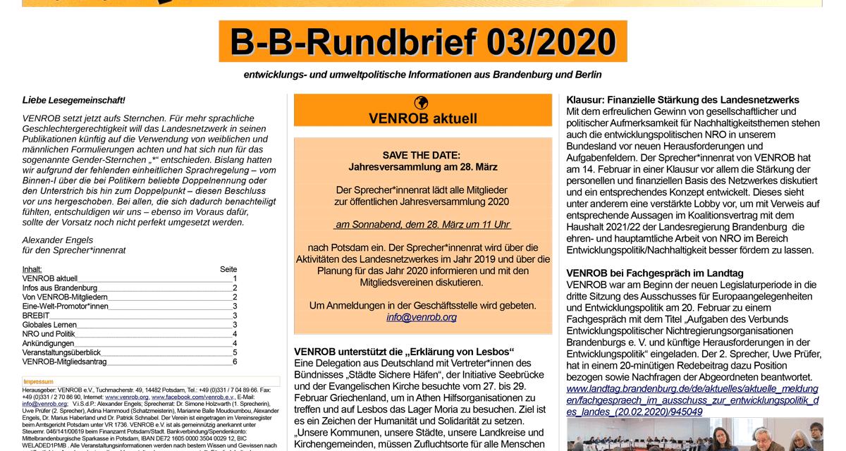 B‑B-Rundbrief 3/2020