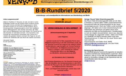 B‑B-Rundbrief 5/2020