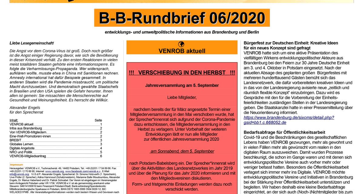 B‑B-Rundbrief 6/2020