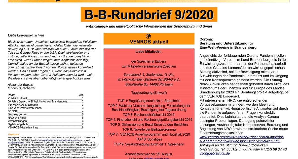 B‑B-Rundbrief 9/2020