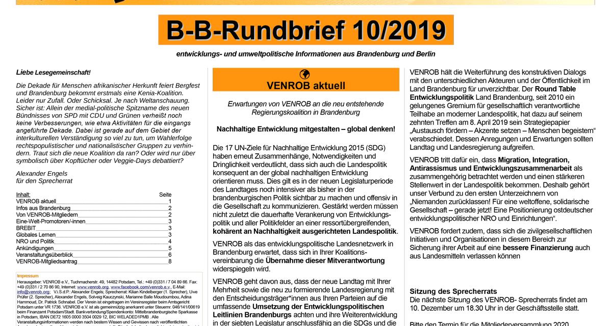B‑B-Rundbrief 10/2020