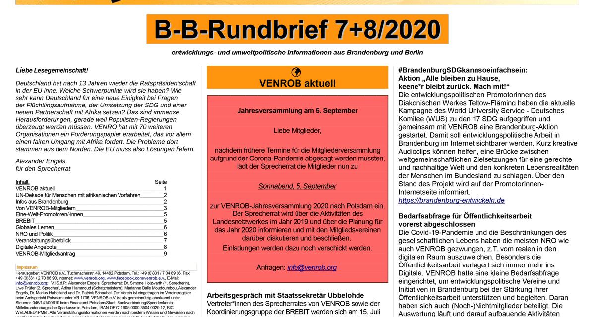B‑B-Rundbrief 7+8/2020