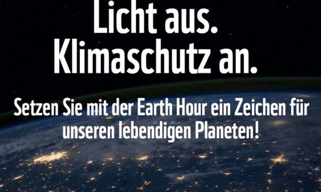 Am 27. März ist EarthHour!