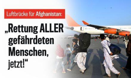 AFGHANISTAN – schnelles humanitäres Handeln