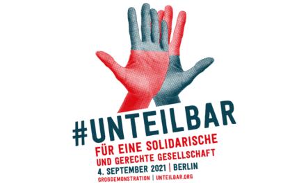 #UNTEILBAR Demo am 4. September in Berlin